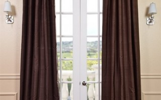 A dark color curtain is perfect for fall and winter.