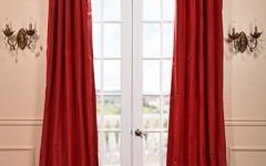 A red drape reminiscent of the gown worn by Jennifer Lawrence can add an especially dramatic flair to any room.