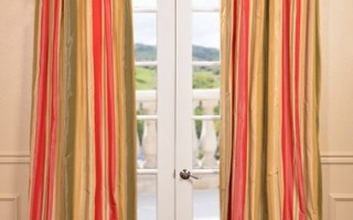 Add decorative curtains to your home this holiday season.