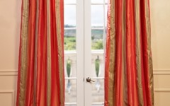 Add festive curtains to your holiday home decor.