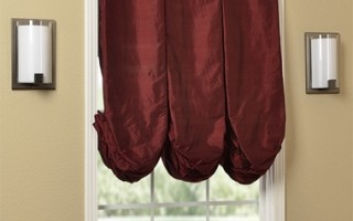 Balloon Roman shades like these - in Thai silk make quite the impression on your windows.