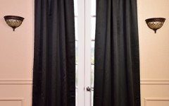 Black curtains will create the perfect Halloween ambiance.