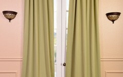 Blackout curtains help create privacy.