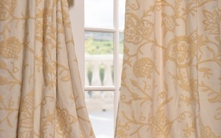 Cotton curtains are durable and easy to clean.