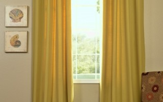 Cotton drapes are easy to afford and can help make your new apartment feel like a home.