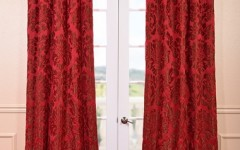 Deep red curtains will be popular this year.