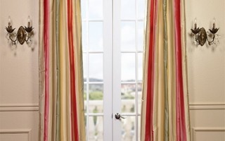 Designer silk drapes are perfect for showcasing lustrous floral shades in your home.