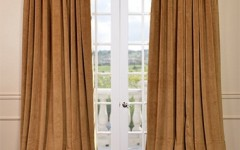 Framing the windows with lovely drapes is a great way to differentiate windows and doors.
