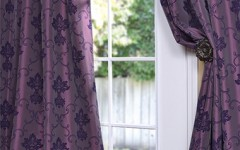 Give your home a trendy update in 2014 with purple drapes.