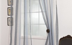 Hanging sheer drapes in your study can increase the amount of natural light to boost your attentiveness, energy and mood.
