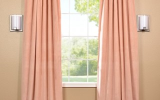 Petal pink blackout curtains like this one look great year-round and serve a good purpose as well.