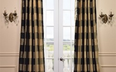 Plaid curtains will end a punk style to your home.