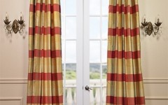 Plaid silk curtains can give your interior a rustic look when embracing antiques.