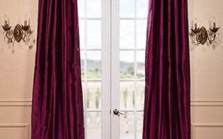 Purple drapes are right on trend.