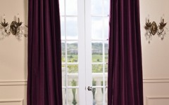 Retain heat inside your home with our velvet curtains.