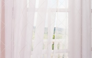 Sheer curtains are light and feminine.