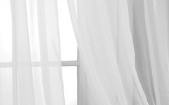 Sheer curtains look fantastic in windows.
