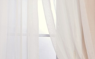 Sheer drapes are quite charming!