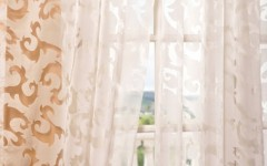 Sheer drapes exude romance.