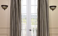 Silver curtains will make your metallic look complete.