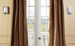 Striped silk drapes like this can really improve your home's appearance.