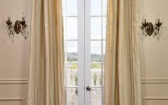 These beautiful silk drapes will make a great yellow impression in your house.