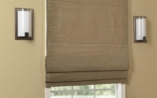 This textured window treatment is perfect for the bathroom.