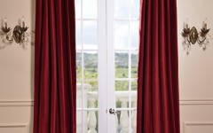 Try a red velvet curtain to give your home a vintage vibe.