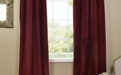 Try switching up your curtains with a burgundy shade for fall.