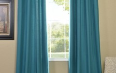 Turquoise drapes are right on trend.