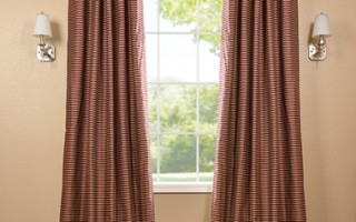 Use curtains in fall colors to create the perfect atmosphere this Thanksgiving.