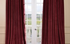 Velvet curtains are perfect for the winter season.