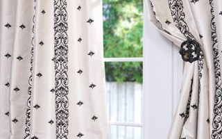 Worried about blocking too much light? Select white silk drapes,