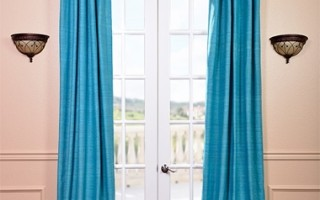 You really can have beautiful silk drapes like this even if you have pets.